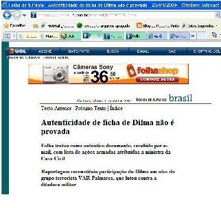 A credibilidade da Folha de São Paulo…