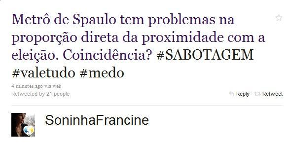 A INACREDITÁVEL Soninha Francine