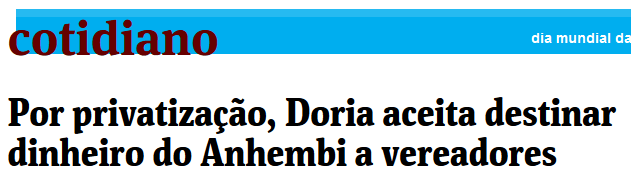 Por privatização, Doria aceita destinar dinheiro do Anhembi a vereadores