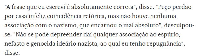 Roberto Alvim pede perdão e diz que associação com nazismo não foi intencional